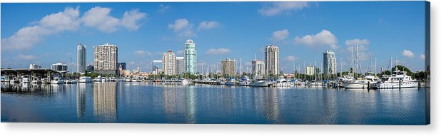 Florida Acrylic Print featuring the photograph St. Petersburg Panorama by Bryan Pridgeon