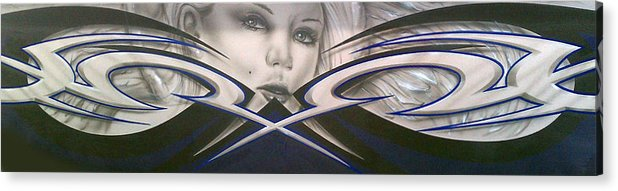 Angel Acrylic Print featuring the painting Angel Eyes by Mike Royal