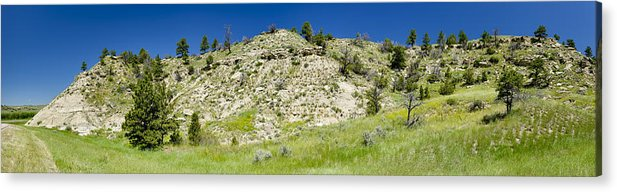 Americas Acrylic Print featuring the photograph Cliff Side Panorama by Roderick Bley