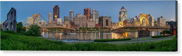 Pittsburgh Acrylic Print featuring the photograph Nor'side Pano by Jennifer Grover