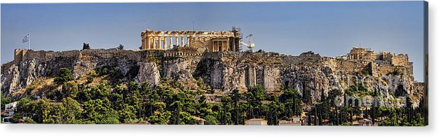 Athens Acrylic Print featuring the photograph Panorama Of The Acropolis In Athens by David Smith