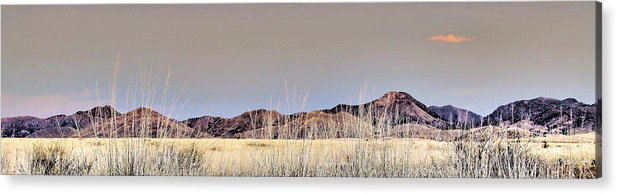 Landscape Acrylic Print featuring the photograph Chiracahuas Panorama by Sharon Broucek