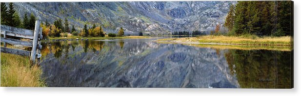 Beautiful Acrylic Print featuring the photograph East Rosebud Lake Fall Panorama by Roger Snyder