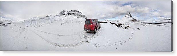 Kirkjufell Acrylic Print featuring the photograph Storm Rider by Evelina Kremsdorf