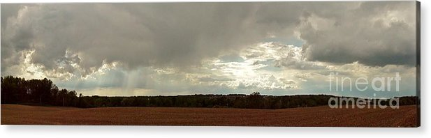 Landscape Acrylic Print featuring the photograph Panoramic Hilltop View by Elizabeth Hernandez