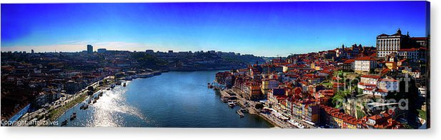 Paisagem Acrylic Print featuring the photograph Rio Douro by Liz Alves