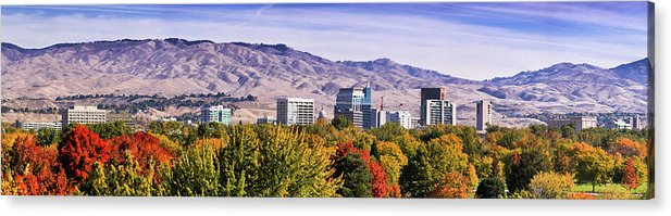 Tranquility Acrylic Print featuring the photograph Boise City Skyline Fall by Darwin Fan