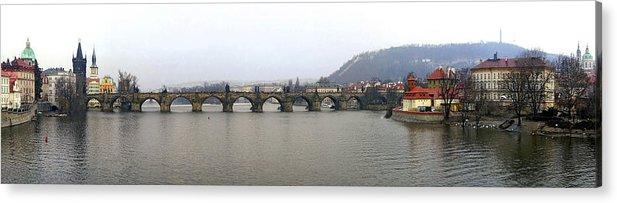 Charles Bridge Photographs Acrylic Print featuring the photograph Charles Bridge by Gary Lobdell