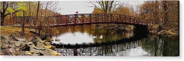 Bridge Acrylic Print featuring the photograph Girl On The Bridge by Turhan Von Brandon