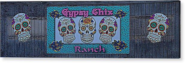 Gypsy Chix Ranch Acrylic Print featuring the photograph Gypsy Chix Ranch by Debra Martz