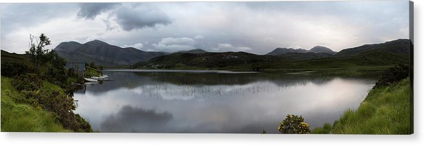 Loch Acrylic Print featuring the photograph Loch Stack Boat House by Karen Appleyard