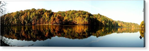 Fall Acrylic Print featuring the photograph Fall In Indiana by Carol Milisen