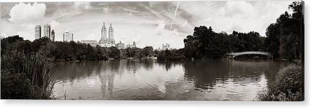 Manhattan Acrylic Print featuring the photograph Central Park Spring by Songquan Deng