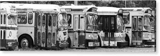Old Bus Acrylic Print featuring the photograph The Finish Line by Karl Anderson