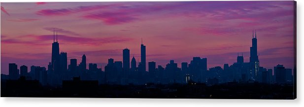 Sunrise Acrylic Print featuring the photograph Chicago Sunrise by Steve Kuzminski