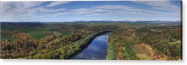 James River Acrylic Print featuring the photograph James River State Park by Tredegar DroneWorks