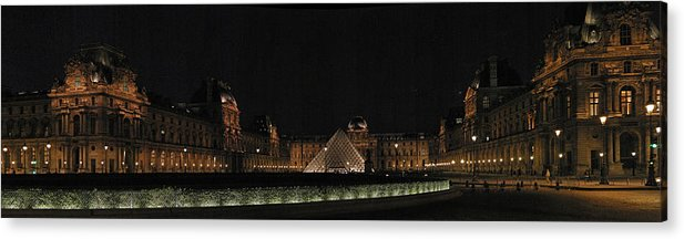 Louvre Acrylic Print featuring the photograph Louvre by Gary Lobdell