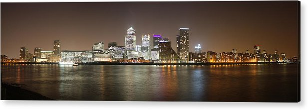 London Acrylic Print featuring the photograph Canary Wharf by Cath Dupuy