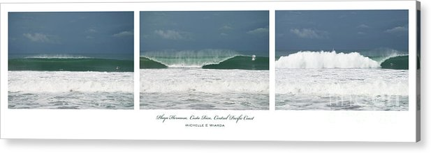 Wave Acrylic Print featuring the photograph Playa Hermosa Wave Triptych Central Pacific Coast Costa Rica by Michelle Constantine
