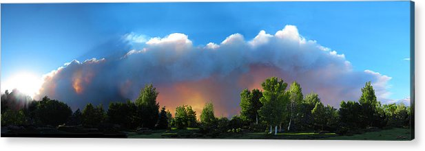 Colorado Acrylic Print featuring the photograph Wildfire Coming by Ric Soulen