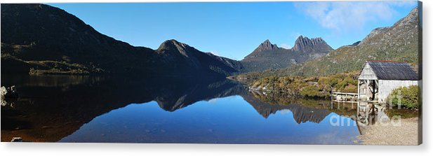 Cradle Mountain Acrylic Print featuring the photograph Cradle Mountain Panoramic by Peter Harrison