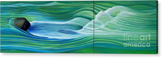 River Acrylic Print featuring the painting When We Met  by Brian Commerford