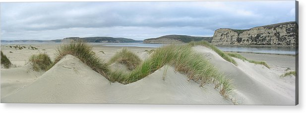 Landscape Acrylic Print featuring the photograph Limantour Spit On A Grey Day by Bob Bennett
