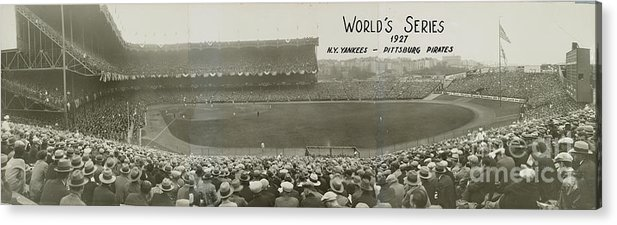 Playoffs Acrylic Print featuring the photograph 1927 World Series At Yankee Stadium 1927 by National Baseball Hall Of Fame Library