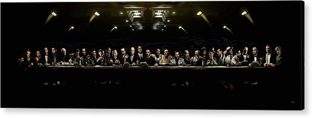 The Last Sit Down Acrylic Print By Laurence Adamson