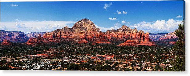 Red Rock Acrylic Print featuring the photograph Sedona Red Rock by Lisa Spencer