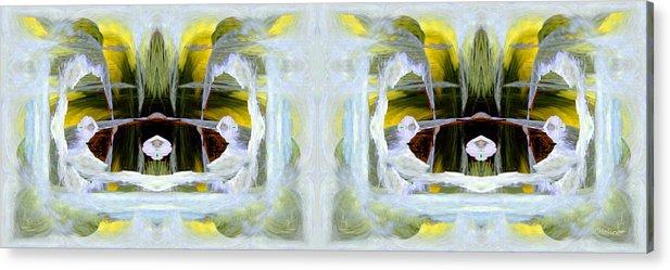 Abstract Acrylic Print featuring the digital art Pond In Fairyland by Joe Halinar