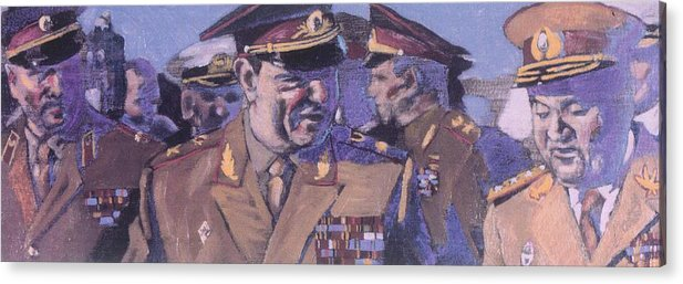 Russian Acrylic Print featuring the painting The Russian Generals by Michael Facey