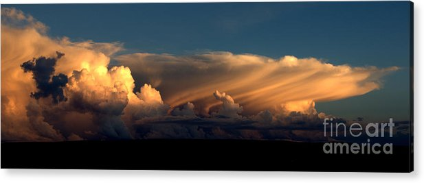 Color Cloud Nm Sunsets Acrylic Print featuring the photograph 90234 Color Cloud Nm by Erik Poppke