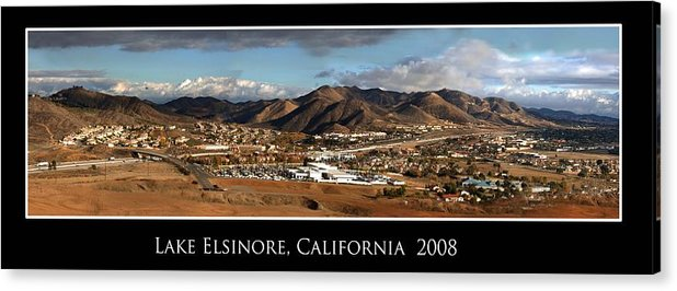 Landscape Acrylic Print featuring the photograph Lake Elsinore 2008 by Richard Gordon