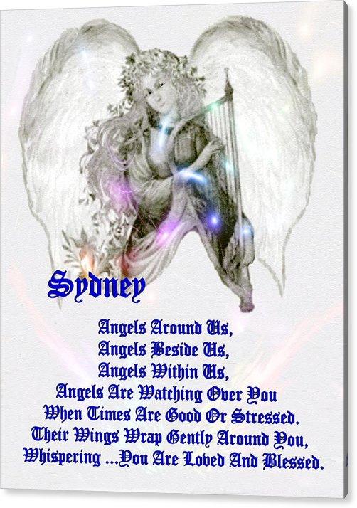 Smdgeart Acrylic Print featuring the digital art An Angel Prayer For Sydney by Madeline Allen - SmudgeArt