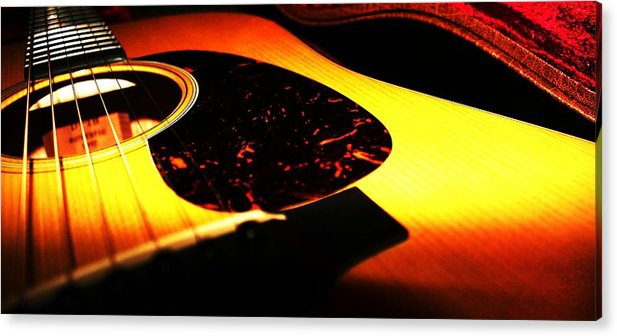 Guitar Acrylic Print featuring the photograph Martin by Erika Lesnjak-Wenzel