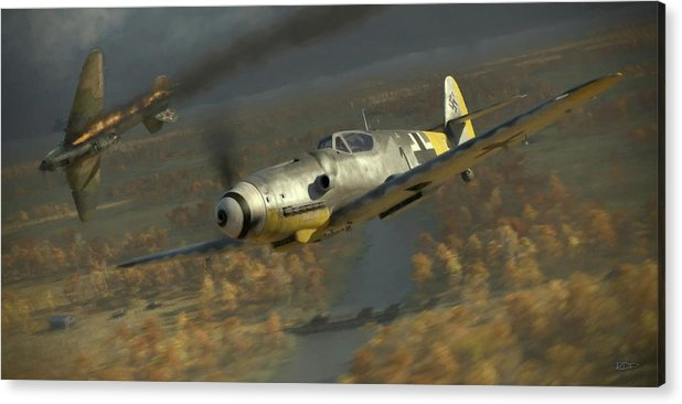 Wwii Acrylic Print featuring the digital art 200 - Painterly by Robert Perry