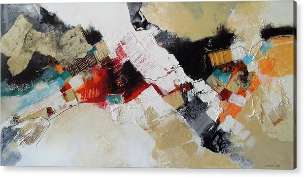 Mixed Media Collage Acrylic Print featuring the mixed media X Marks the Spot by Jo Ann Brown-Scott