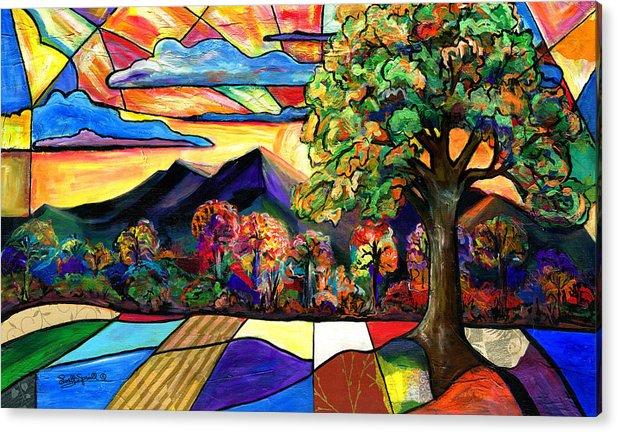 Everett Spruill Acrylic Print featuring the painting Autumn Sunrise by Everett Spruill