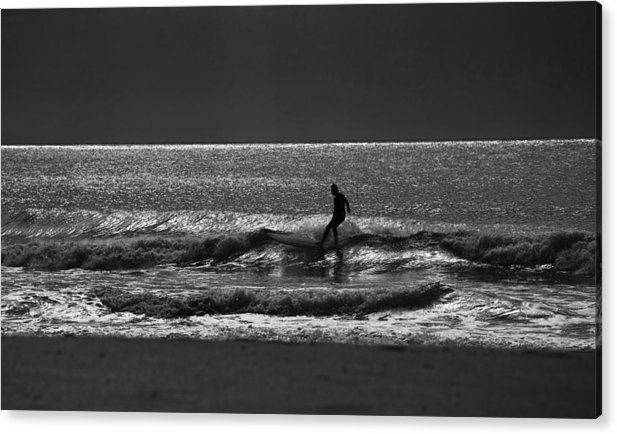 Surfer Acrylic Print featuring the photograph Morning surfer by Sheila Smart Fine Art Photography