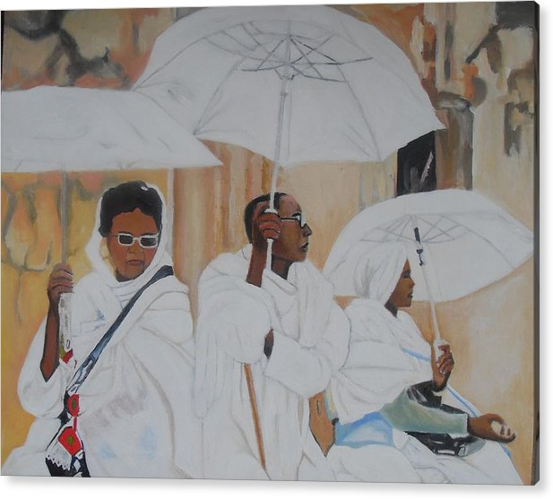 African Art Acrylic Print featuring the painting Ethiopian Travelers by Patrick Hunt