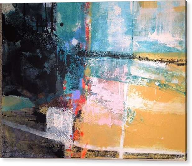 Abstract Mixed Media Using High Texture Acrylic Print featuring the mixed media High Road by Jo Ann Brown-Scott