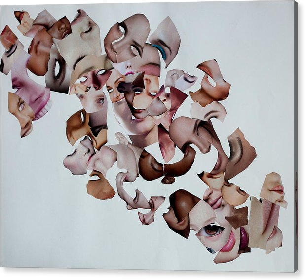 Acrylic Print featuring the mixed media Flux Presentation of the Self by Arvo Zylo