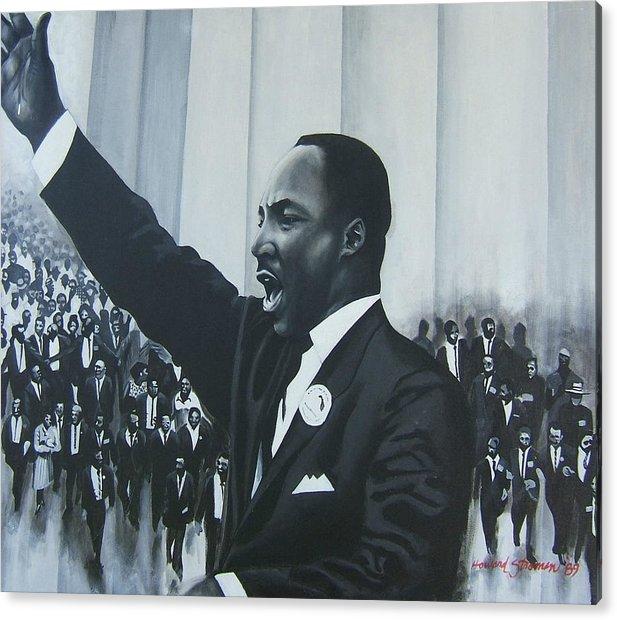 Martin Luther King Acrylic Print featuring the painting I Have A Dream by Howard Stroman