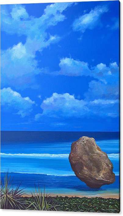 Barbados Acrylic Print featuring the painting Bathsheba by Hunter Jay