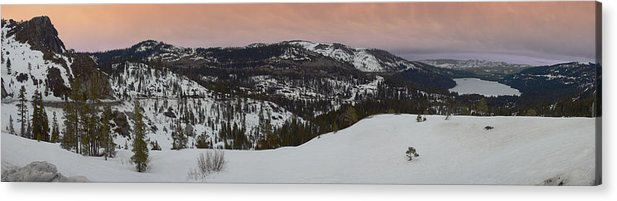 Acrylic Print featuring the photograph Donner Panoramic by Adam Blankenship