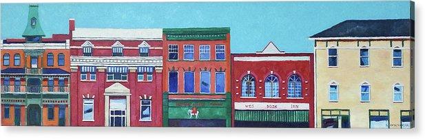 Edmonton Acrylic Print featuring the painting Whyte Avenue Edmonton by Nel Kwiatkowska