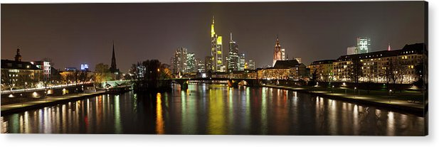 Panoramic Acrylic Print featuring the photograph Germany, Frankfurt, View Of City At by Westend61