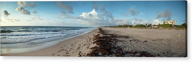 Scenics Acrylic Print featuring the photograph Florida Beach With Gentle Waves And by Drnadig