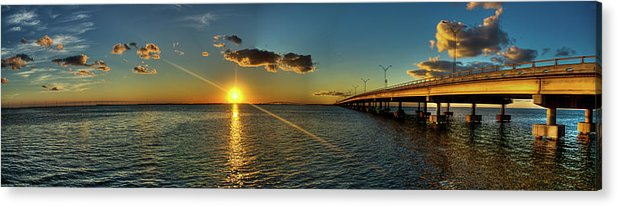 Panoramic Acrylic Print featuring the photograph Queen Isabella Causeway by Joshua Bozarth